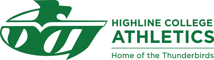 Highline College Athletics Home of the Thunderbirds logo