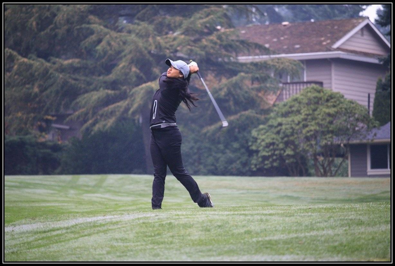 Women's Golf Action Photo