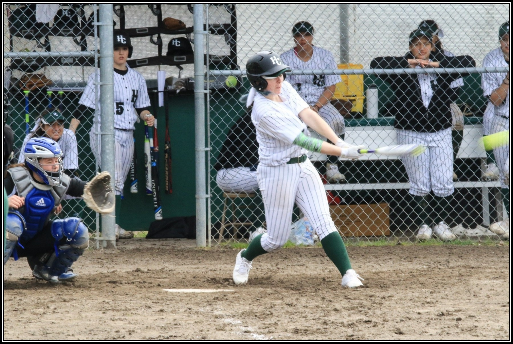 Women's Softball Action Photo