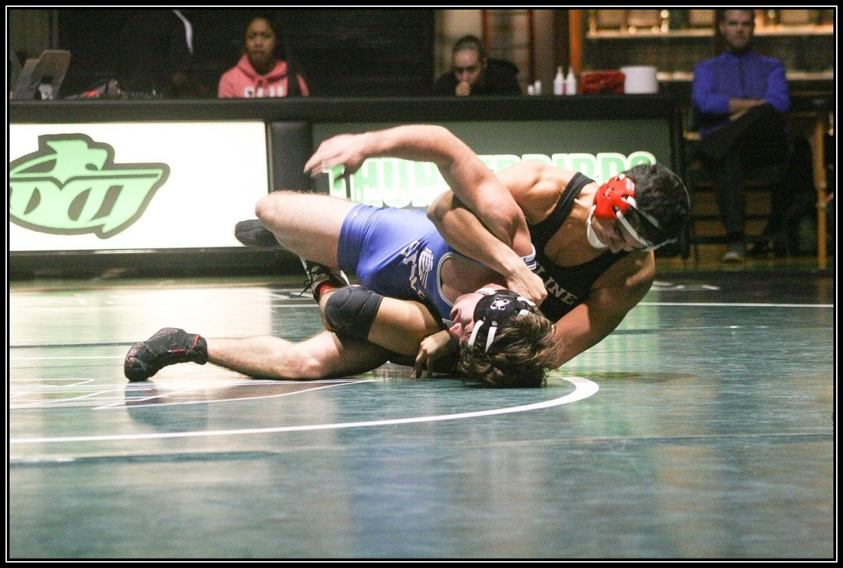 Men's Wrestling Action Photo