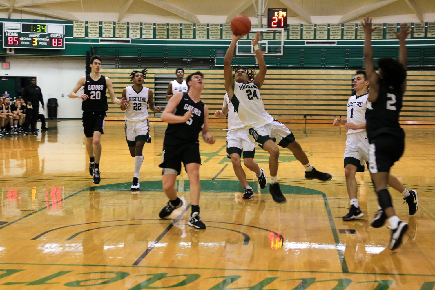 Men's Basketball Action Photo