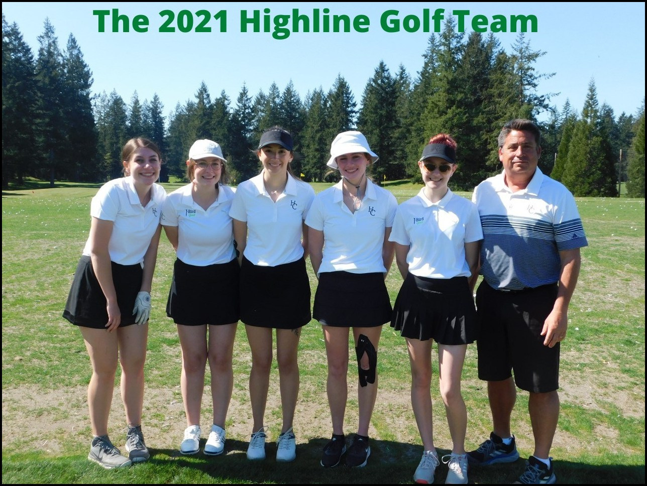 Highline Golf Team Spring 2021